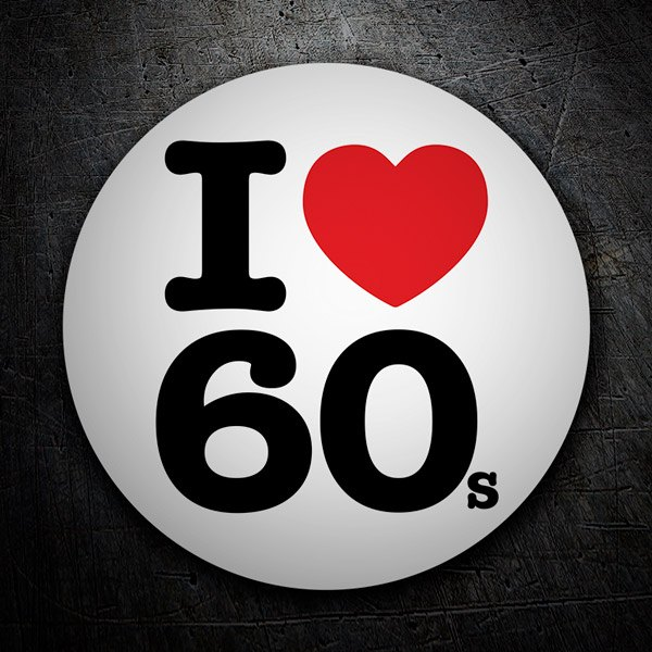 Car & Motorbike Stickers: I love 60s