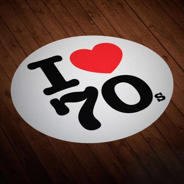 Car & Motorbike Stickers: I love 70s