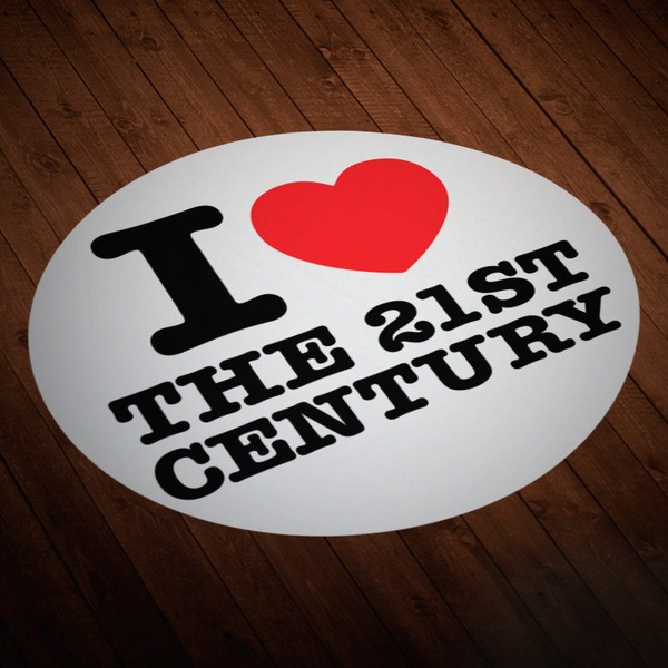 Car & Motorbike Stickers: I love 21st Century