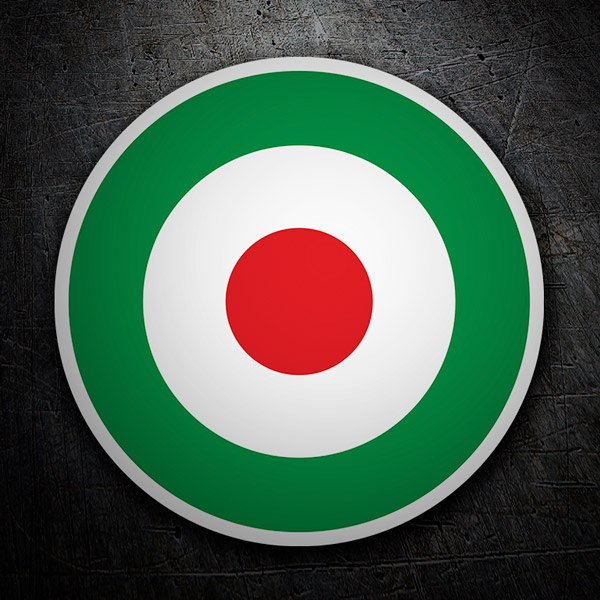 Car and Motorbike Stickers: Italy Flag Circle