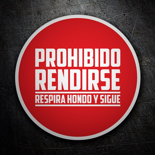 Car & Motorbike Stickers: Sticker Prohibido Rendirse (No surrender)