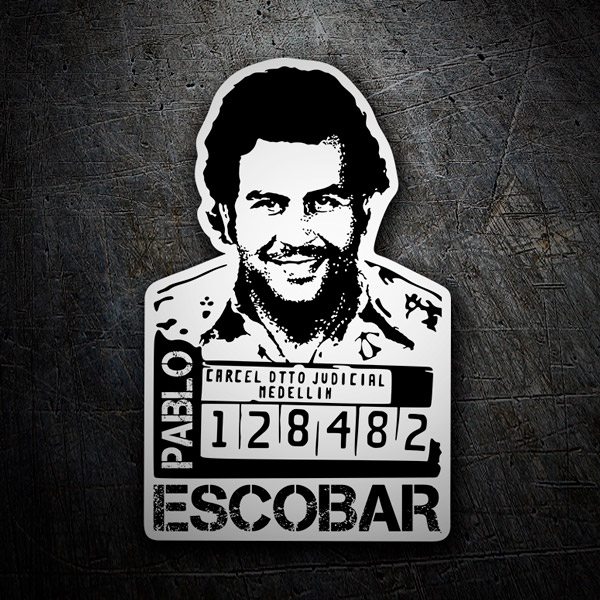 Car & Motorbike Stickers: Photo Pablo Escobar