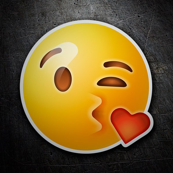 Car and Motorbike Stickers: Emoticon Kiss