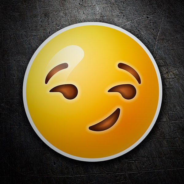 Car & Motorbike Stickers: Smirking Face