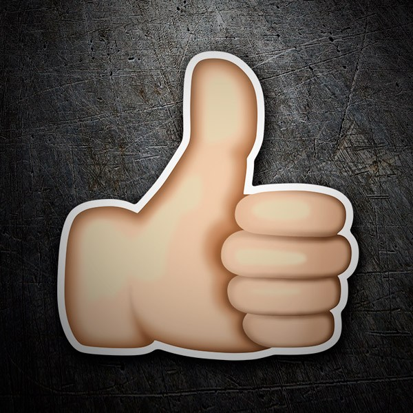 Car & Motorbike Stickers: Thumbs Up Sign
