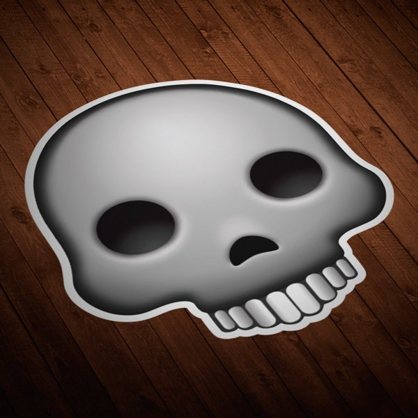 Car & Motorbike Stickers: Emoji skull