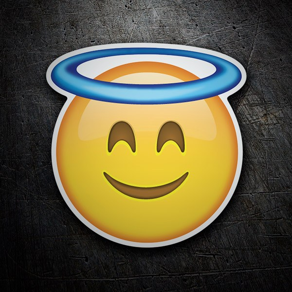 Car and Motorbike Stickers: Smiling Face With Halo