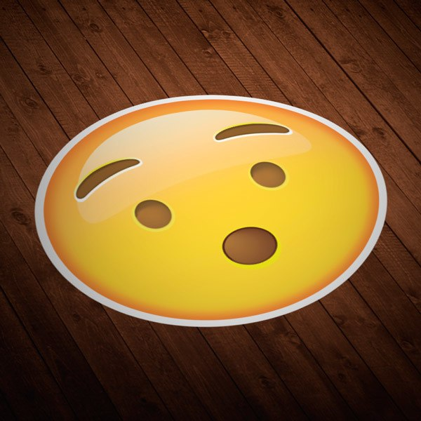 Car and Motorbike Stickers: Hushed Face