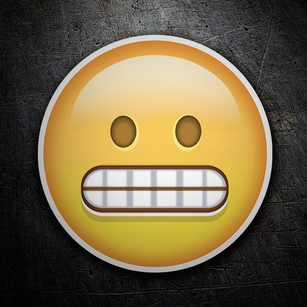 Car & Motorbike Stickers: Grinning Face With Smiling Eyes
