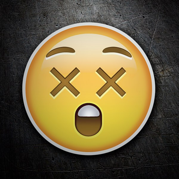 Car & Motorbike Stickers: Dizzy Face