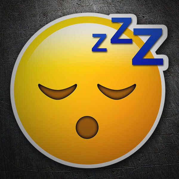Car and Motorbike Stickers: Sleeping Face