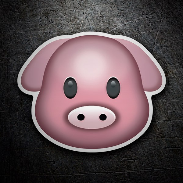 Car & Motorbike Stickers: Emoticon Pig Face