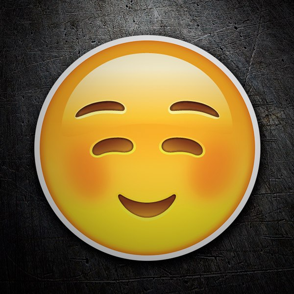 Car & Motorbike Stickers: Smiley Face embarrassed