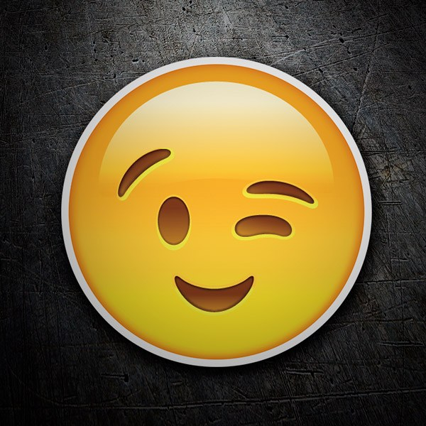 Car & Motorbike Stickers: Winking Face
