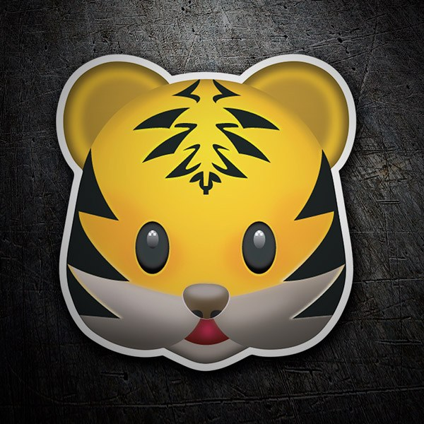 Car & Motorbike Stickers: Emoticon Tiger Face