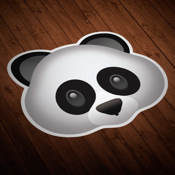 Car & Motorbike Stickers: Panda bear face