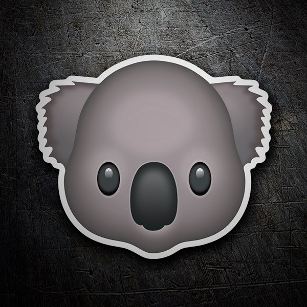Car & Motorbike Stickers: Emoticon Koala Face