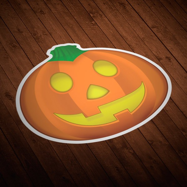 Car & Motorbike Stickers: Halloween Pumpkin