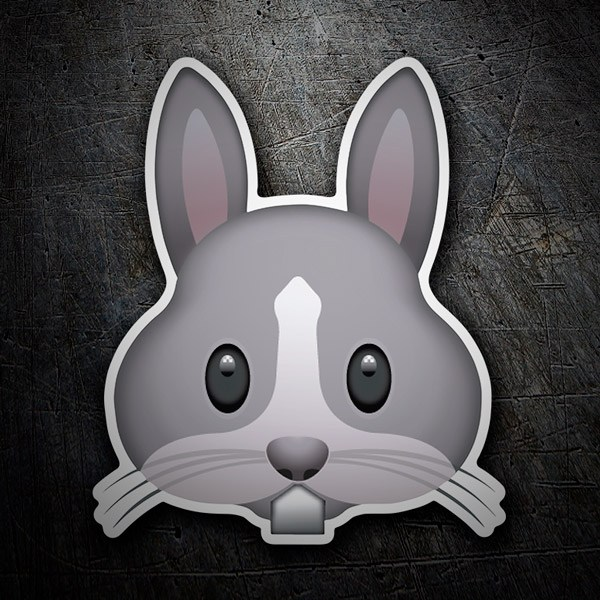 Car and Motorbike Stickers: Rabbit Face