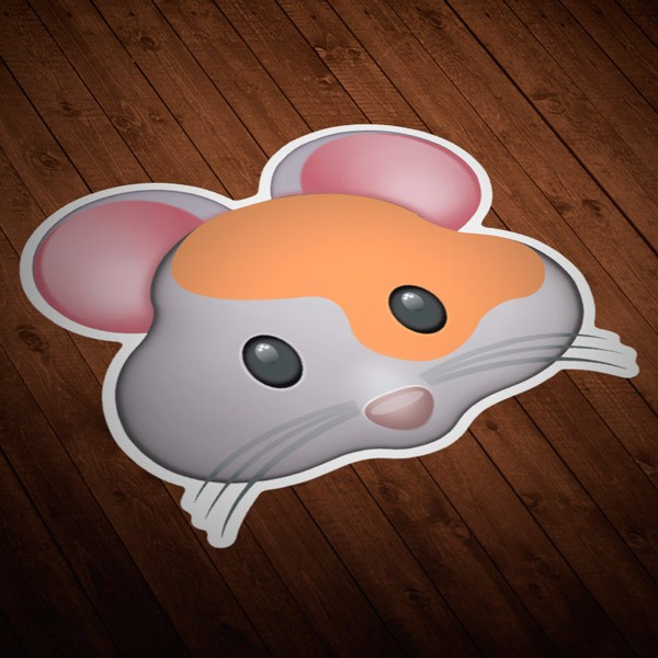 Car and Motorbike Stickers: Hamster Face
