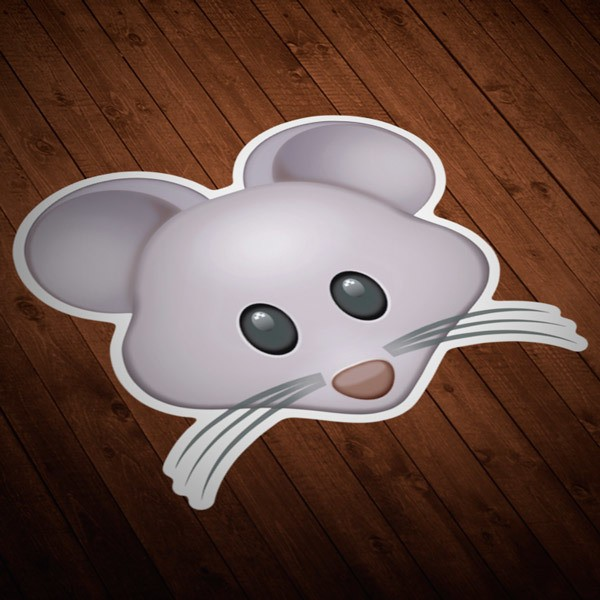 Car and Motorbike Stickers: Mouse Face