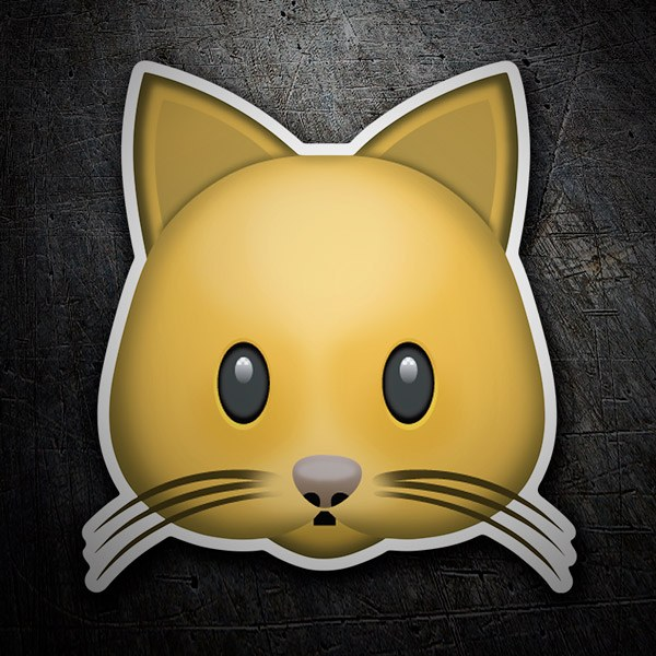 Car and Motorbike Stickers: Cat Face