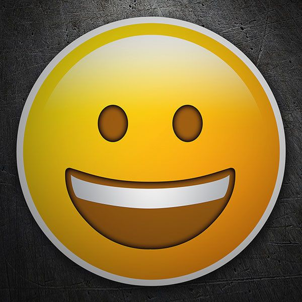 Car & Motorbike Stickers: Grinning Face