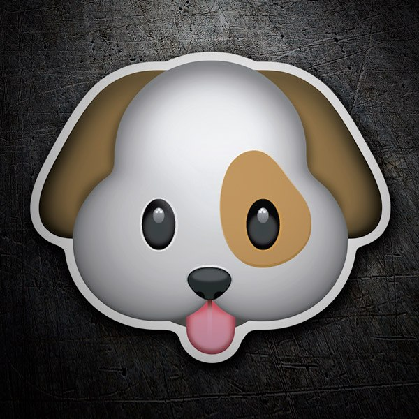 Car and Motorbike Stickers: Dog face