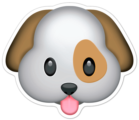 Sticker Dog face | MuralDecal.com - photo#26