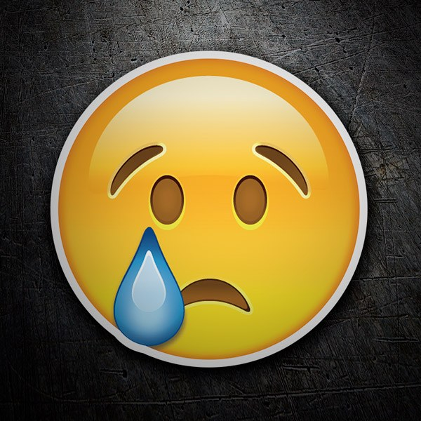 Car & Motorbike Stickers: Crying Face