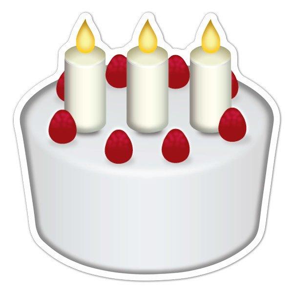 Sticker Emoji Birthday Cake