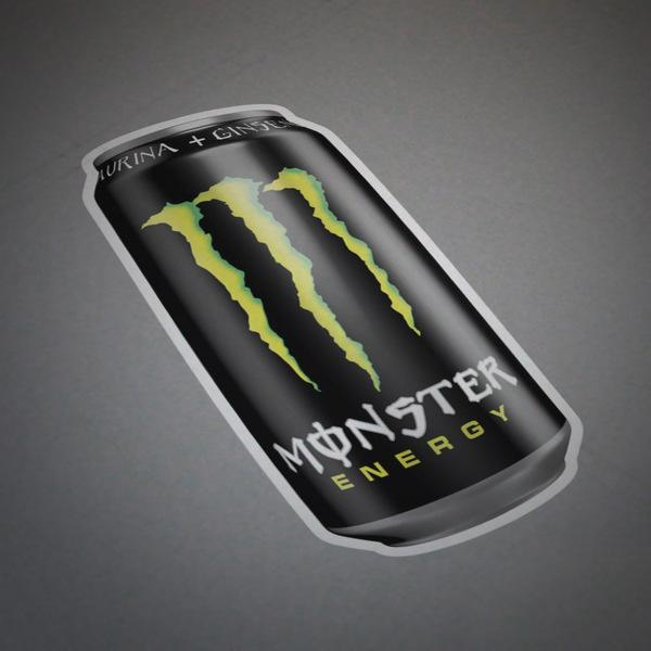 Car and Motorbike Stickers: Monster Energy can 1