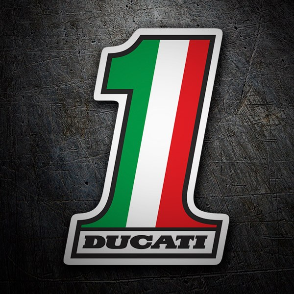 Car & Motorbike Stickers: Ducati Number 1