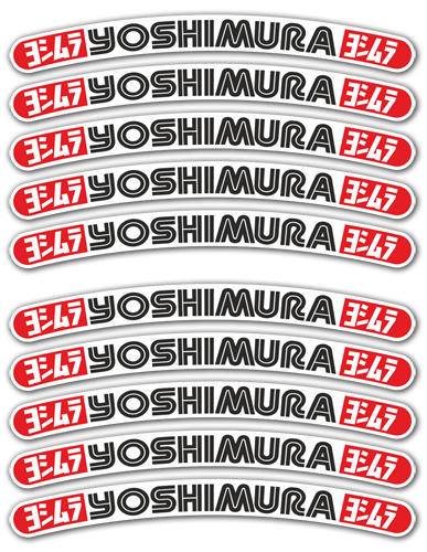 Car & Motorbike Stickers: 10 stickers rims set Yoshimura 0