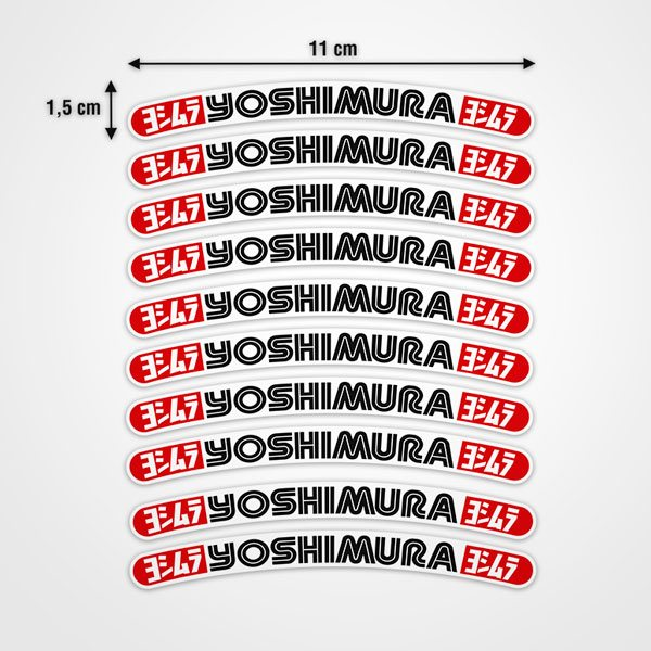 Car & Motorbike Stickers: 10 stickers rims set Yoshimura