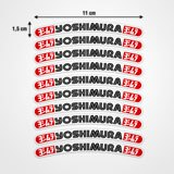 Car & Motorbike Stickers: 10 stickers rims set Yoshimura 3