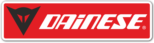 Car & Motorbike Stickers: Dainese red