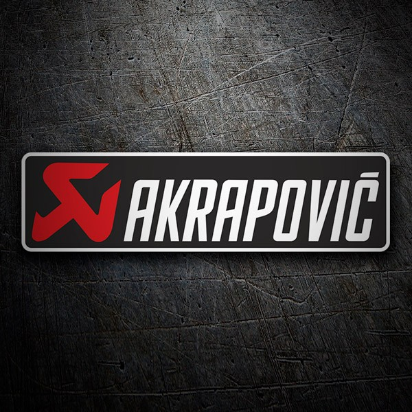 Car and Motorbike Stickers: Akrapovic 1