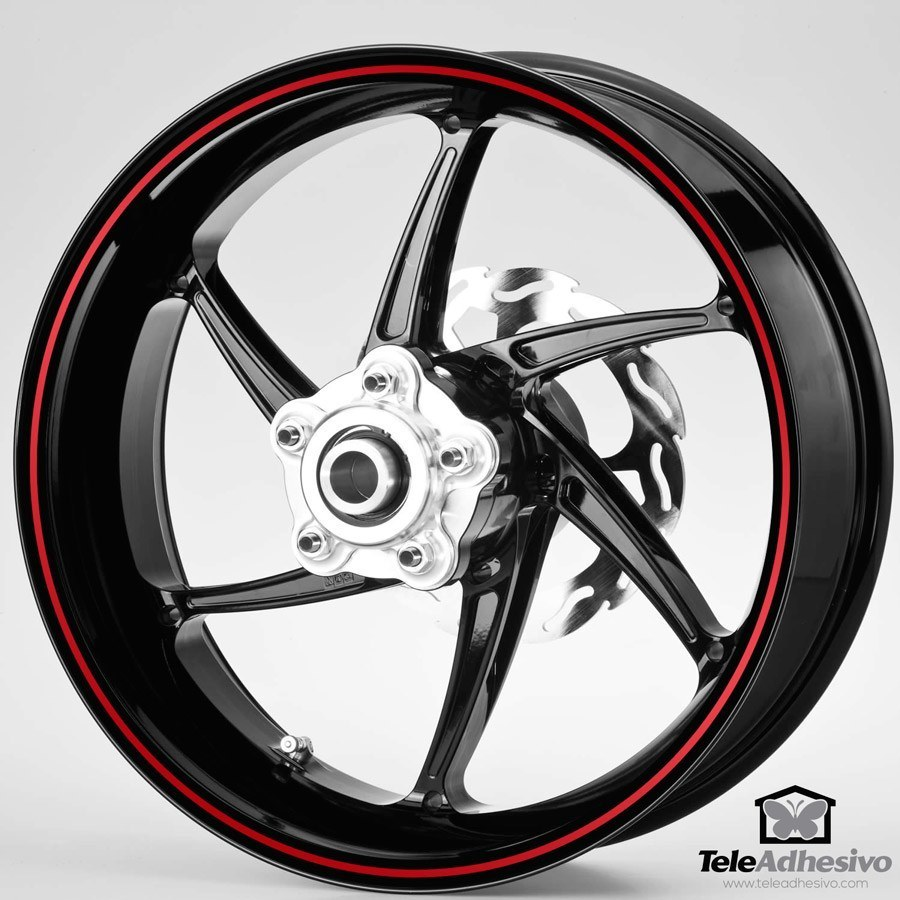 Car & Motorbike Stickers: Gereric rim stripes kit 2 wheels 4mm.