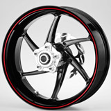 Car & Motorbike Stickers: Gereric rim stripes kit 2 wheels 4mm. 2
