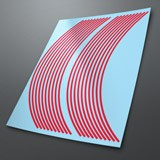 Car & Motorbike Stickers: Gereric rim stripes kit 2 wheels 4mm. 3
