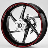 Car & Motorbike Stickers: Gereric rim stripes kit 2 wheels 6mm. 2