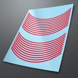 Car & Motorbike Stickers: Gereric rim stripes kit 2 wheels 6mm. 3
