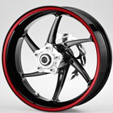 Car & Motorbike Stickers: Gereric rim stripes kit 2 wheels 10mm. 2