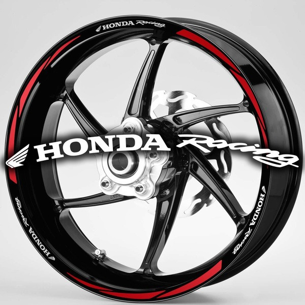 Car and Motorbike Stickers: MotoGP Honda Racing rim stripes