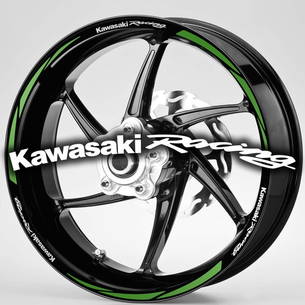 Car & Motorbike Stickers: MotoGP Kawasaki Racing rim stripes