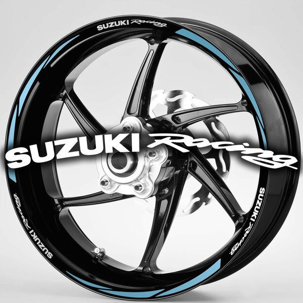 Car & Motorbike Stickers: MotoGP Suzuki Racing rim stripes