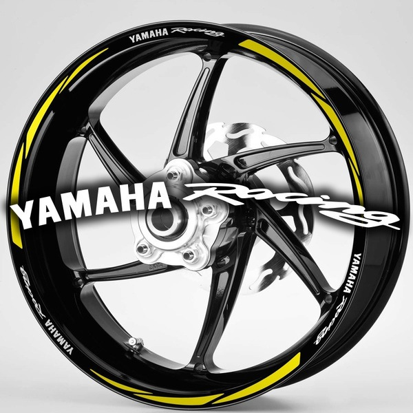 Car & Motorbike Stickers: MotoGP Yamaha Racing rim stripes