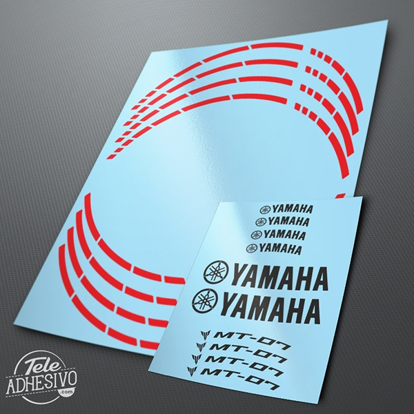 Car & Motorbike Stickers: MotoGP Yamaha MT 07 rim stripes