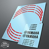 Car & Motorbike Stickers: MotoGP Yamaha MT 07 rim stripes 2